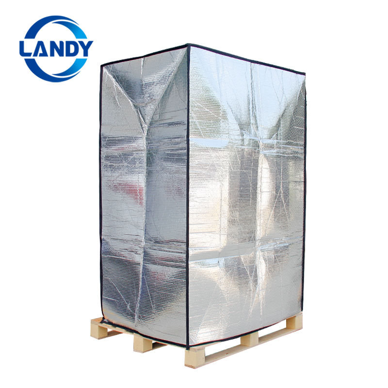 Euro pallet cover Aluminum foil bubble insulation keep cool, Pallet cover for transportation and for storing
