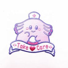 Custom cute cartoon character  Iron On Embroidery Style Embroidery Patches On Sale