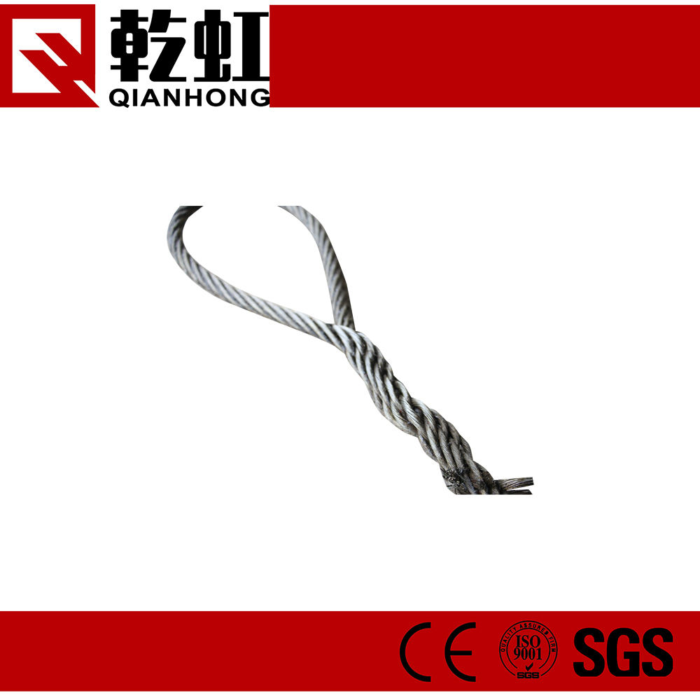 galvanized hand spliced heavy duty wire clamp sling