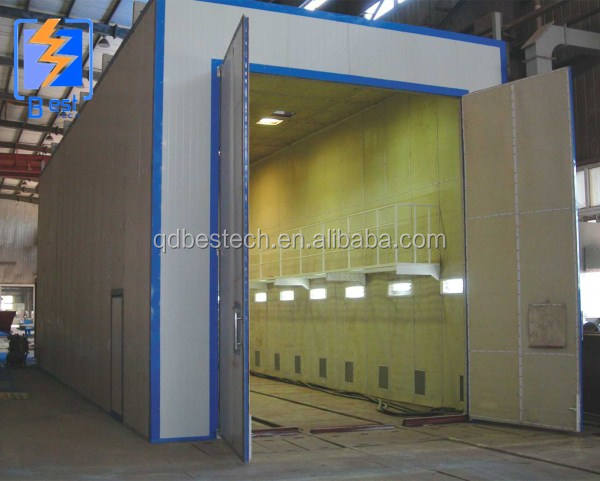 sand blasting room for steel fabriation industry
