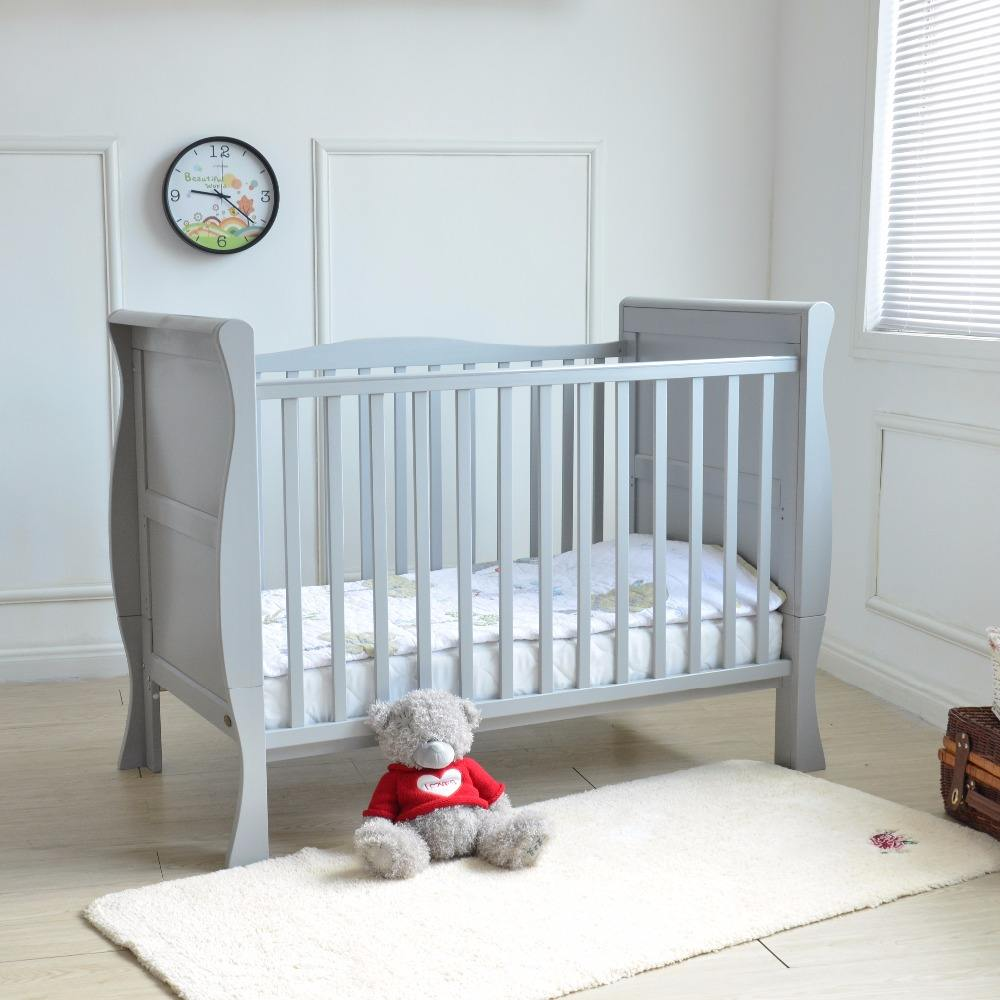 Ningbo OEM massief houten slee babybedje <span class=keywords><strong>bed</strong></span>