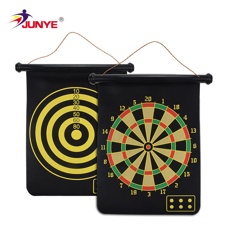 Junye 38*32CM Soft Tip Kids Magnet Dart Board Set With 4 Darts