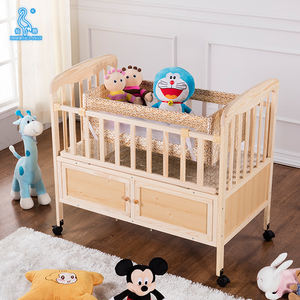 Multi-Functional Baby Cot Baby Wood Bed With Mosquito Net And Drawers
