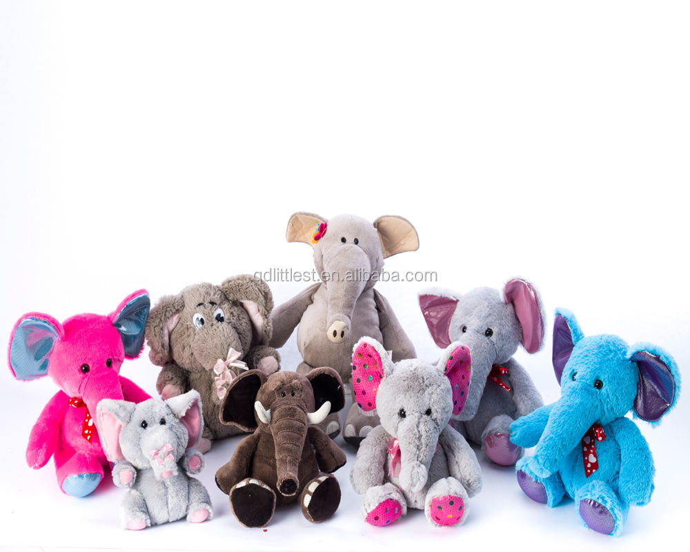 Different Size Baby Plush Elephant Toys Animal Stuffed Toys for kids