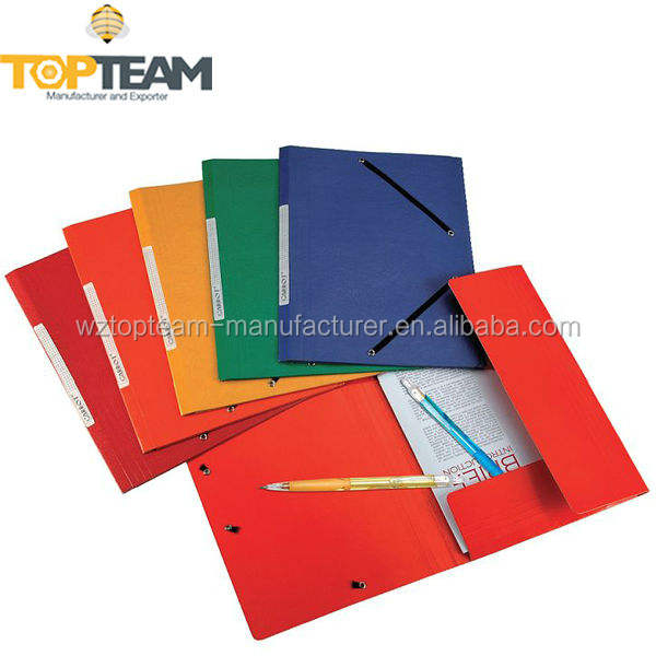 Durable Conference Documents File Folder, Duplex Paperboard Report File Folder With Elastic