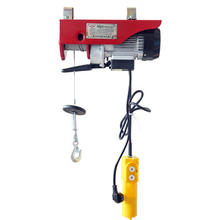 Chinese supplier cheap portable  pa  small 220v pa250 pa500 kg  mini motor wire rope electric hoist pa500 1000 kg winch