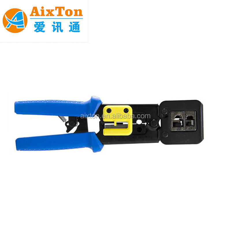 Cable de red alicates que prensan ez RJ45 engarzado herramienta