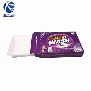 Detergent type remove stains deeply laundry detergent sheet washing clean fragance paper sheets