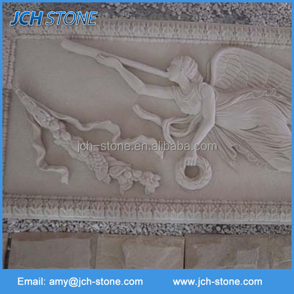 Carved stone wall art modern relief sculpture