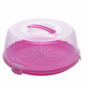 Bpa free plastic cake carrier cake stand cake container with handle