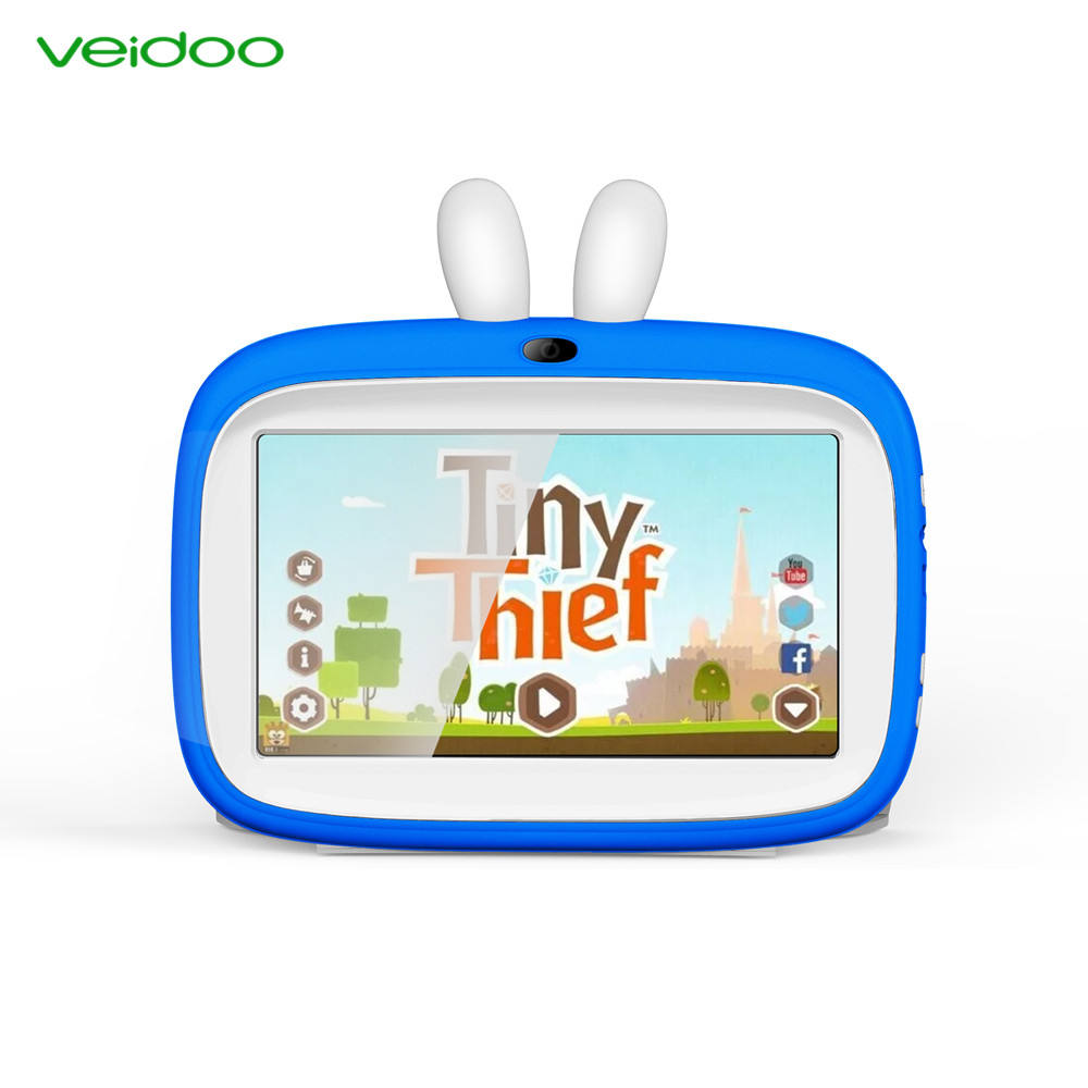 Veidoo Customized Software ROM 8G GMS Passed Children Education 7 inch Android Kids Tablet Pc