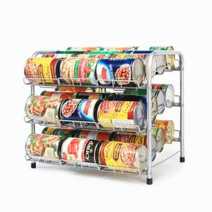 New Stackable Can Rack Can Rack storage holder Canned Food Display Rack Organizer