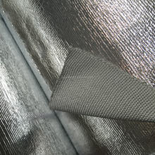 Aluminum foil coated fiberglass fabric isolation for wall