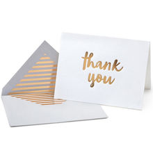 Low price Design Custom Envelope With Gold Foil Thank You Cards