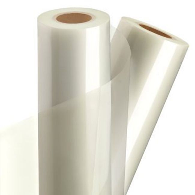 PVC Double Sided Cold Laminating Fillm Transparent Adhesive film white release paper