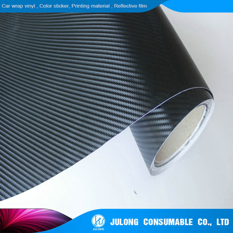 High Polymer Car Cover 3D Carbon Fiber Vinyl Sticker With Air Bubble Free 1.52*30m