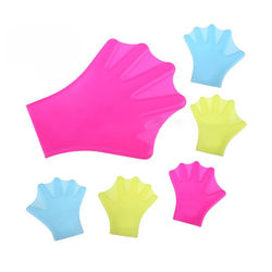Unisex Adult Kids Silicone Webbed Swim Gloves For Diving Snorkeling Paddles Duck Palm Diving Gloves