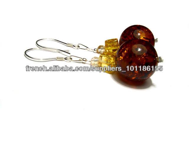 Argent 925 , Boucles d'oreilles , ambre, avec des éléments <span class=keywords><strong>Swarovski</strong></span> , boucles d'oreilles, des ensembles , des <span class=keywords><strong>bijoux</strong></span>