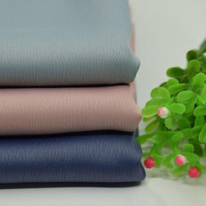 Quick shipping 100% polyester heavy weight thick silk-like matte satin crepe fabric