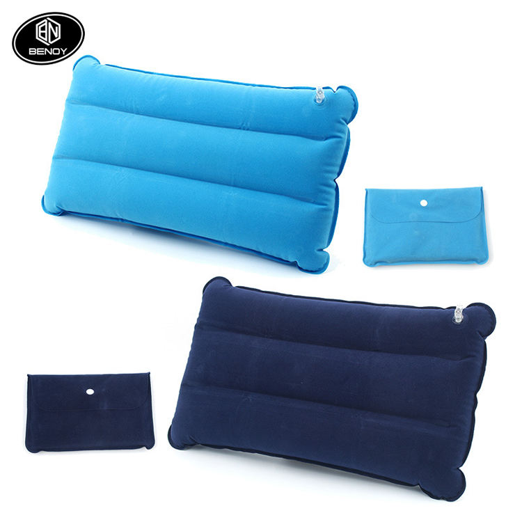 Hot Sale Wholesale Square pvc inflatable travel back support seat cushion air camping pillow