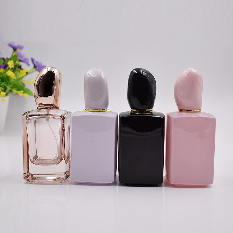 2019 hot sale 30ml 50ml black empty wholesale perfume bottles
