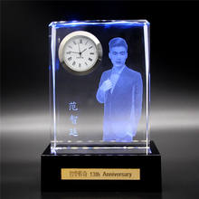 China Wholesale Clear High Quality K9 Crystal 3D Laser Image Custom Gift