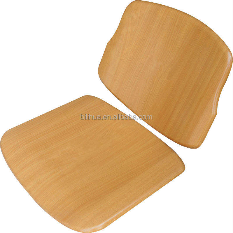 Wooden student chair seat & back