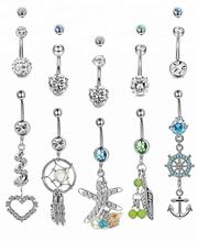 Fancy Magnetic Navel Ring Indian Belly Ring Piercing