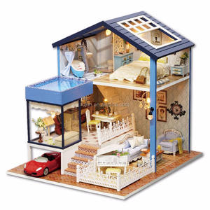 CUTE ROOM 2017 new design diy wooden dollhouse high quality product