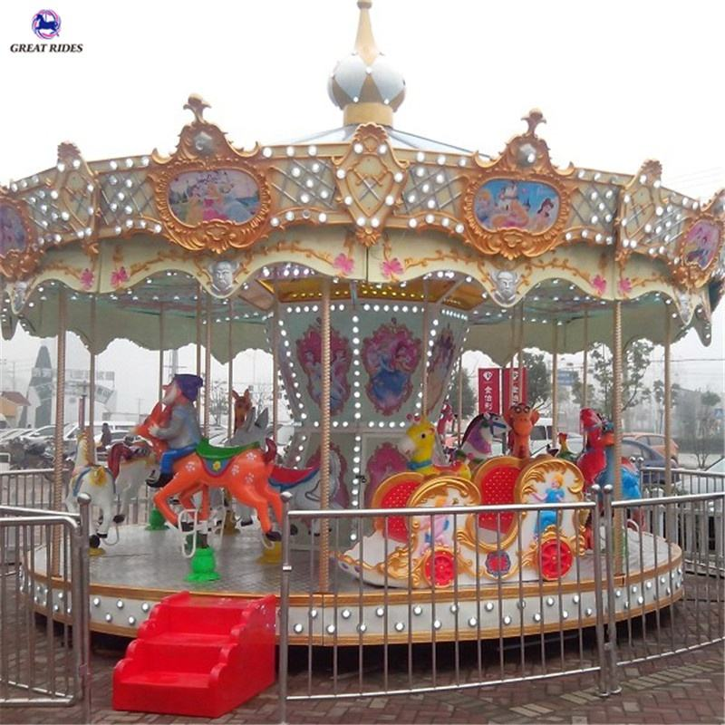 Fun park rides kids amusement equipment carousel horse on hot sale