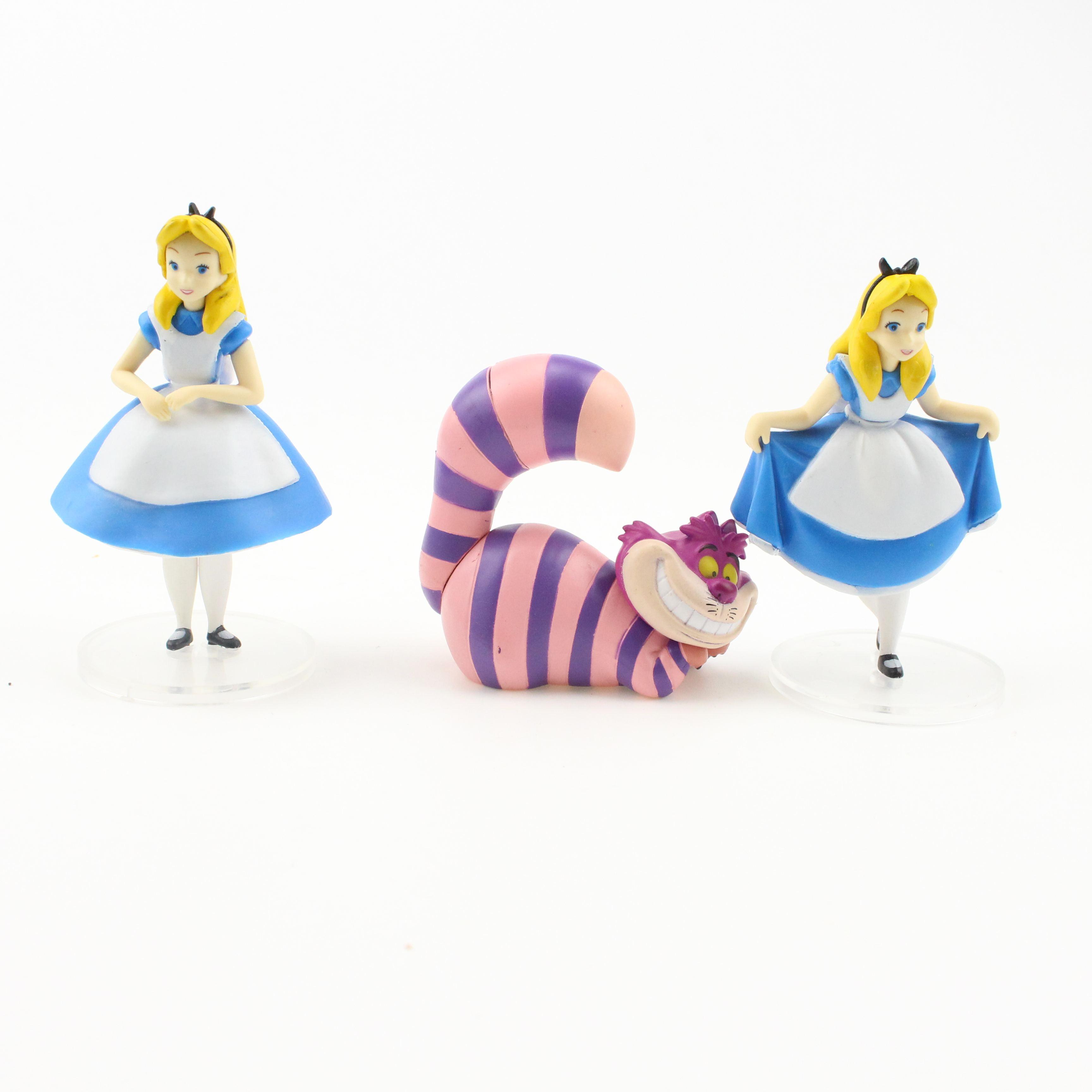 """""""2018 nuevos productos Alicia en el país de las maravillas conjunto de 3 piezas juguetes princesas niñas s figura de acción de f"""