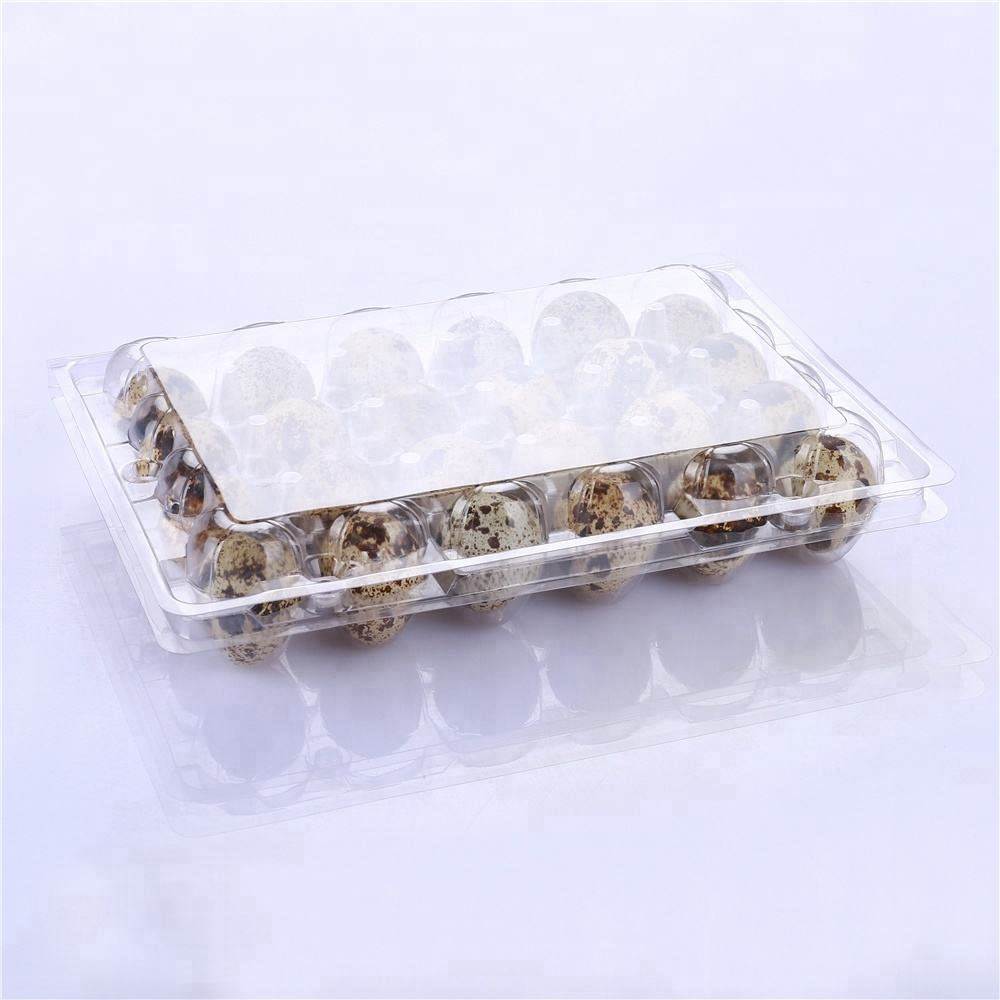 factory price clear disposable plastic PVC quail egg tray for supermarket
