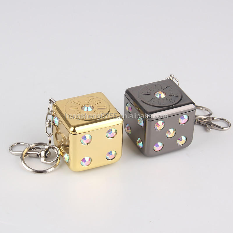 Mini Metal Pocket ashtray keychain dice type portable for smoking accessories