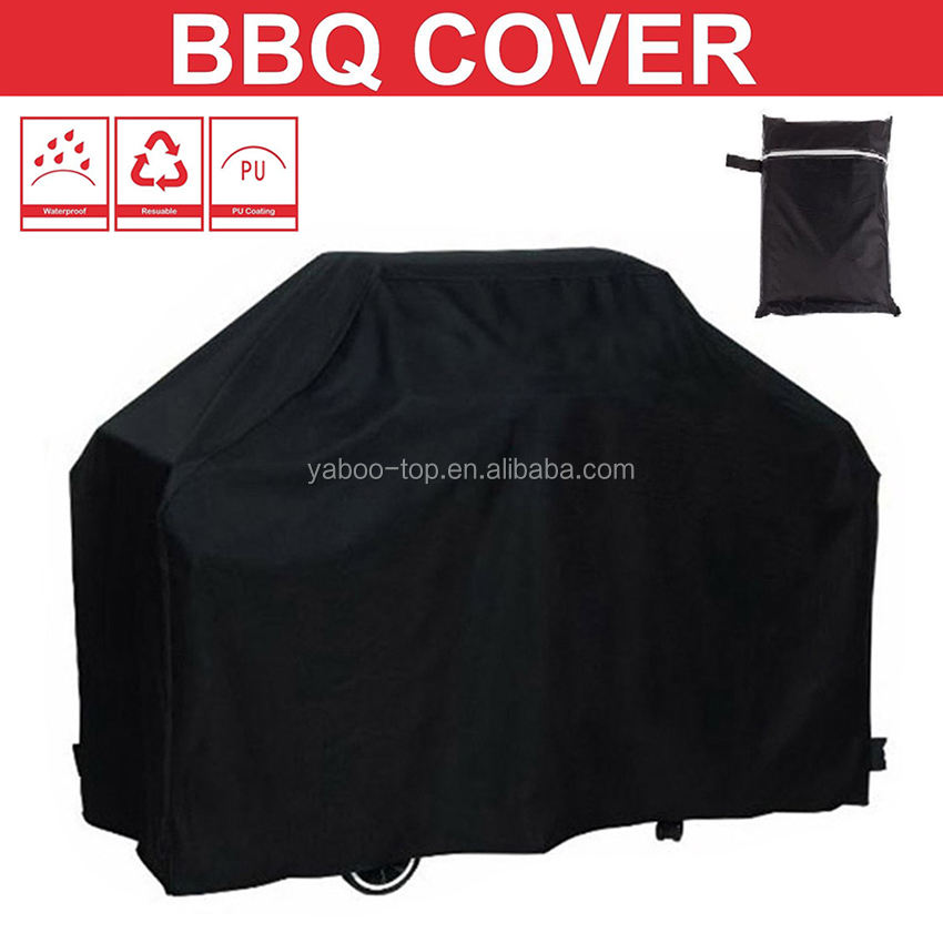 Wholesale Black Waterproof BBQ Cover Grill Cover Anti Dust Rain Gas Charcoal Electric Barbeque Grill