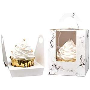 Custom Printing Paper Cupcake Cake Box With Handle