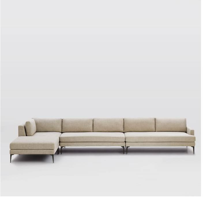 New Design Modern Chesterfield Upholstered L Shaped Fabric Sectional Reclining Living Room Furniture Sofa Set