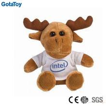 custom plush toy reindeer with t-shirt