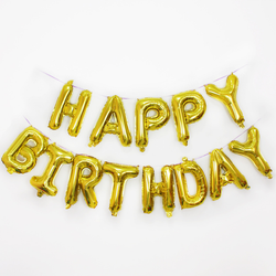 "hang happy birthday Foil Banner Balloons 16"" happy birthday letter foil balloon"