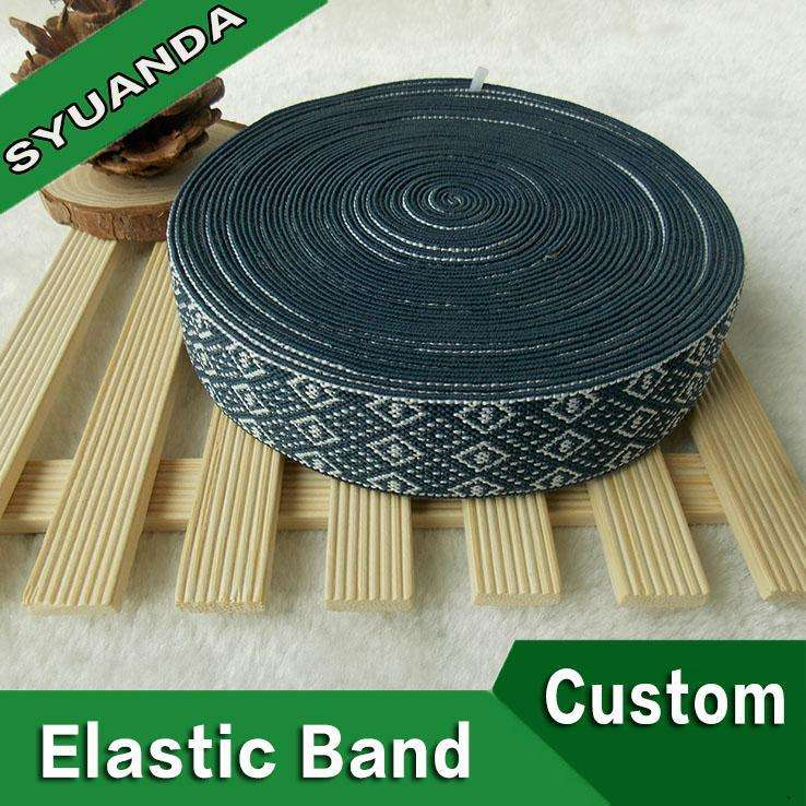 Atacado 40mm elastic crochet headband fita