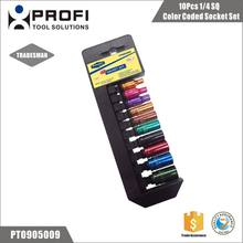 Taiwan Quality 10PCS Auto Repair Tools Color coded Socket Set