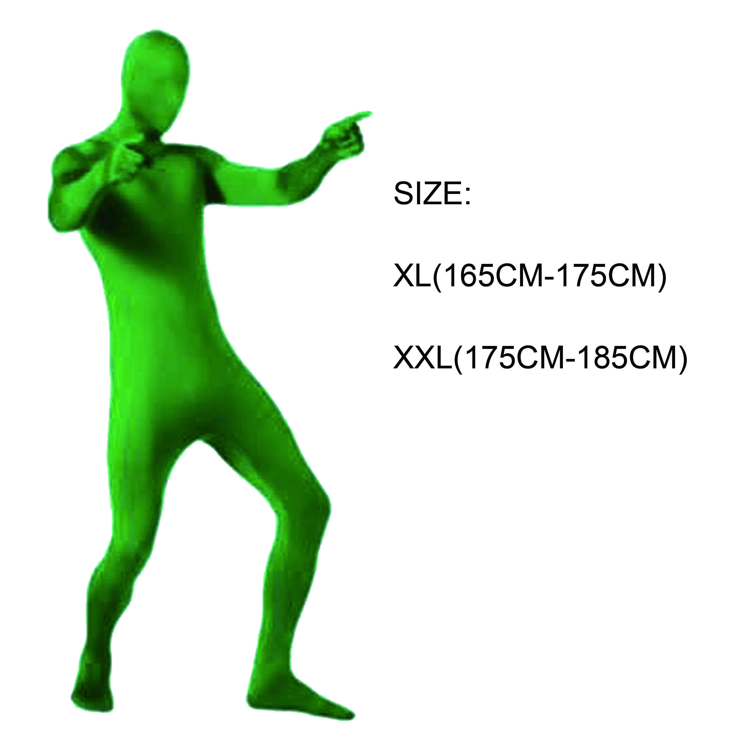 Cape d'invisibilité furtif costumes fond vert Homme Vêtements Invisible costume de corps