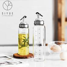 hot selling Sauce oil and vinegar glass oil Bottle Condiment Soy Kitchen Bottles