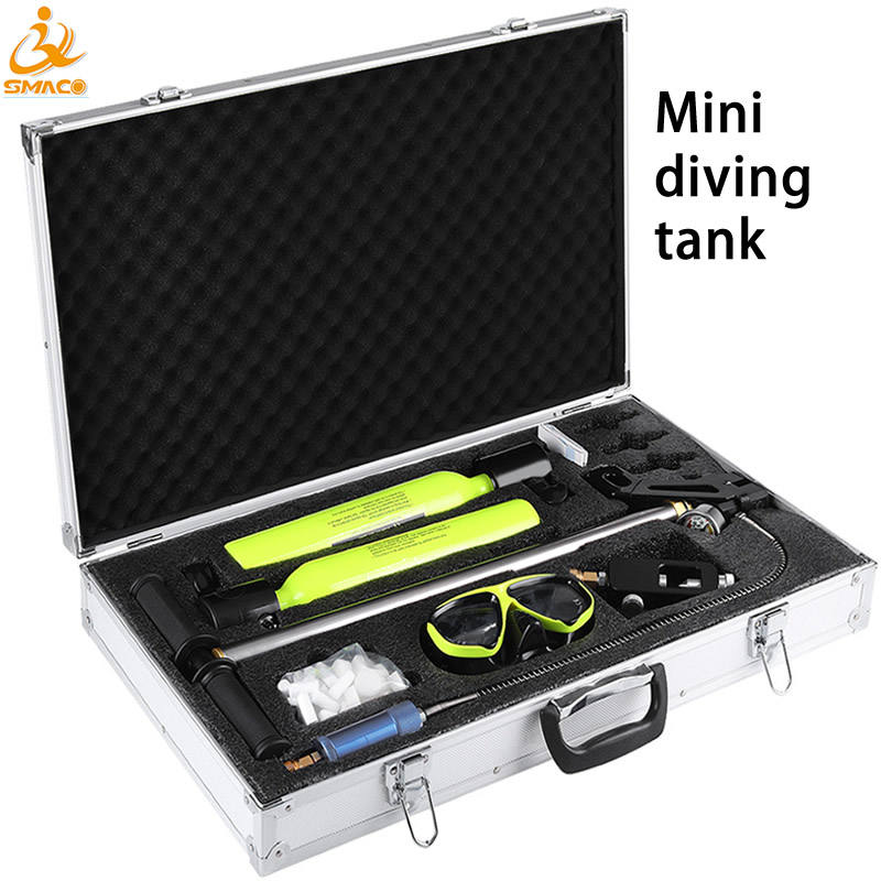 Mini Scuba Total Freedom Breath Underwater Diving Swimming for 5 to 10 minutes Cylinder SMACO Air Tank Equipment
