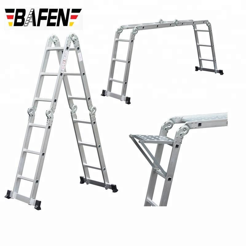 "Heavy Duty ASL Grade 4 Step 50/"" Aluminum Pontoon Marine Boat Folding Ladder"