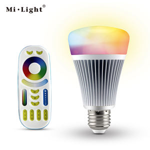 AC85-265V milight 2.4g inalámbrico E27 E26 B22 rgbw WiFi 8 W Lampada LED dimmable luz de la lámpara del bulbo