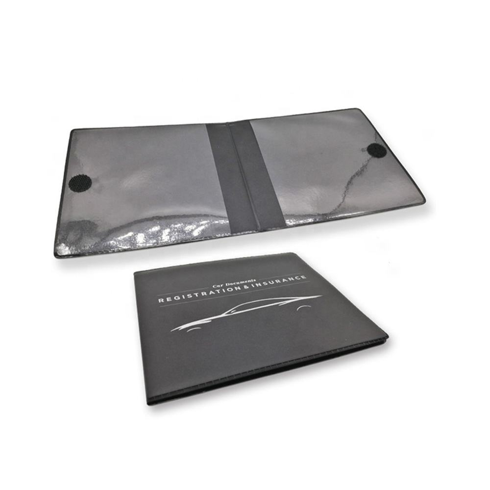 Customized PVC plastic car document holder,auto rigeistration /insurance holder
