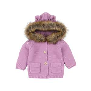 KR291 Hot selling winter warm knitted baby cardigan kids