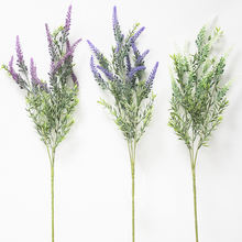 Flocked DIY high quality long stem artificial lavender home decor plant wall covering outdoor ceremony scented artificial flower