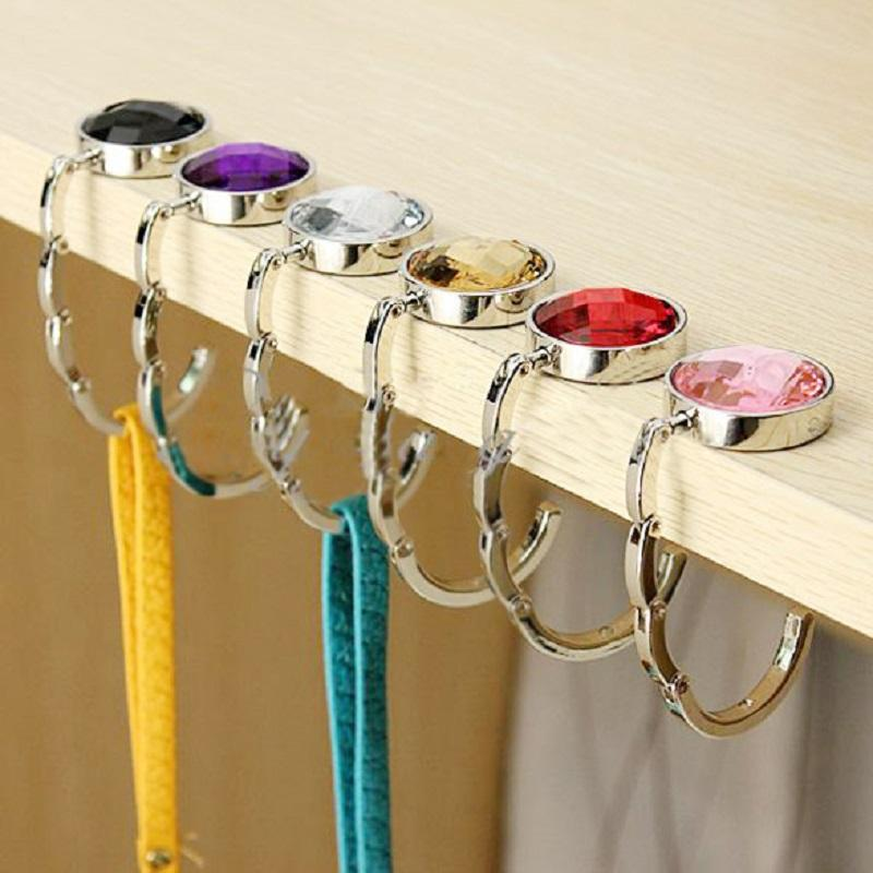 Portable Handbag Hook Portable Folding Handbag Hanger Bag Desk Hanger Multiple Bag Desk Hanger Foldable Purse Bag Hook Holder