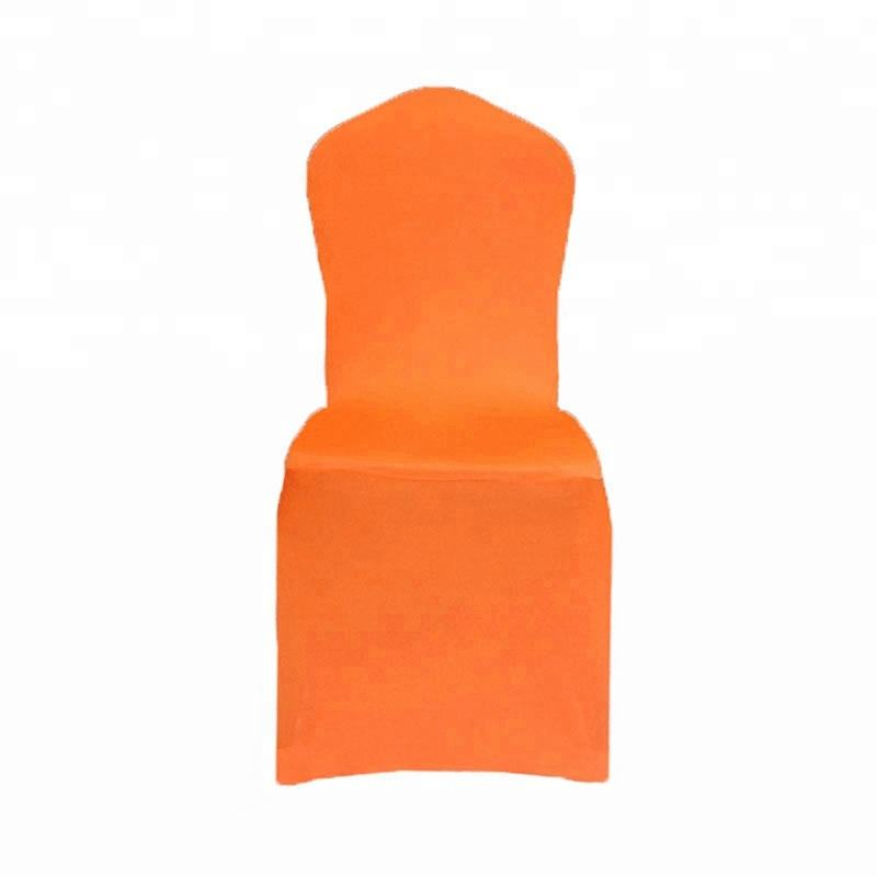 Spandex Stretch Dining Chair Cover for home hotel decoration orange seat cover
